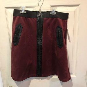 Size large burgundy flared skirt